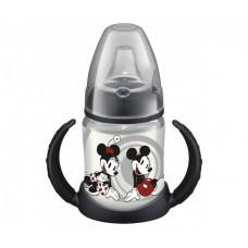 Бутылочка-поильник NUK First Choice Микки Маус черная с силиконовой насадкой с 6 мес 150 мл пластик