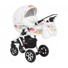 Детская коляска 2 в 1 Adamex Barletta Eco кожа