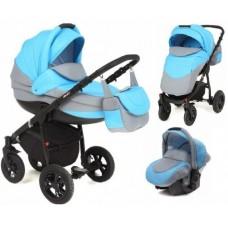 Детская коляска 3 в 1 Adamex Alex Len