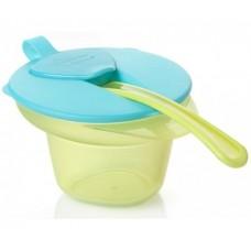 Тарелка Tommee tippee с отделением для охлаждения и разминания пищи, крышка, ложка