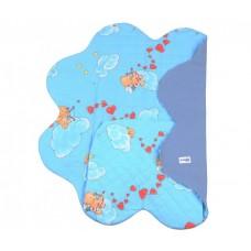 Конверт детский Ramili Light Denim Style Blue c прорезями для ремней безопасности
