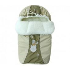 Зимний меховой конверт Little People Снежинка 12002